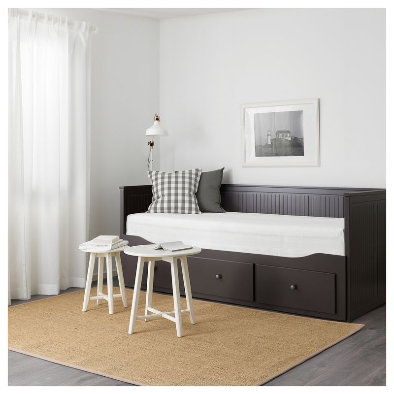 Диван IKEA Хемнэс с 2 матрасами/3-мя ящиками черно-коричневый [192.989.77] - фото 7