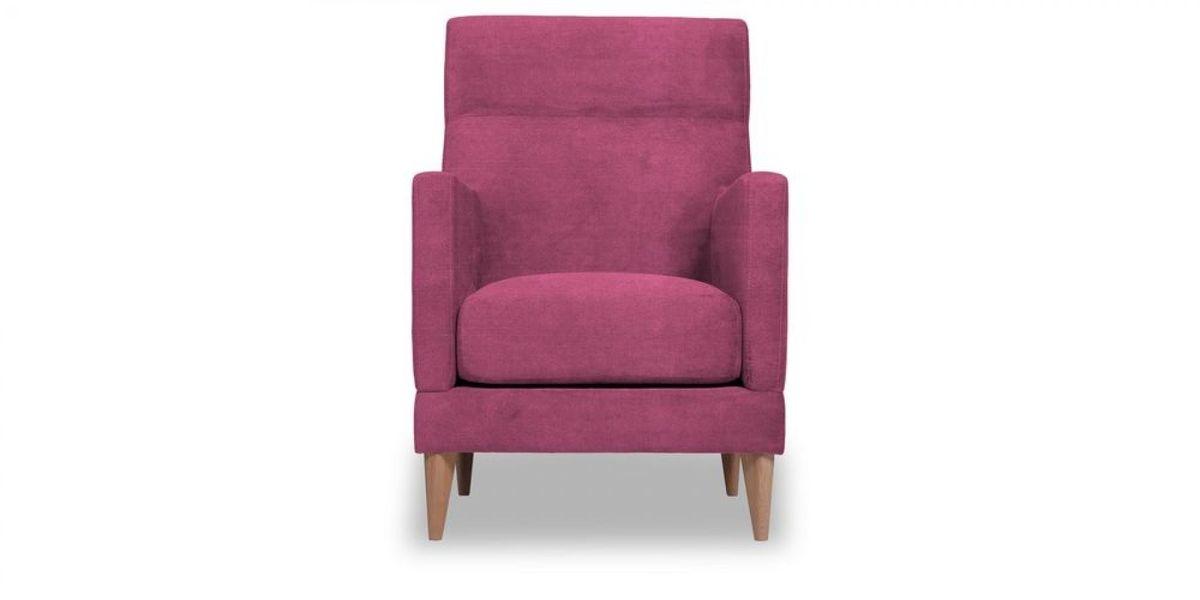 Кресло WOWIN Полар высокое (Фуксия велюр) - фото 2