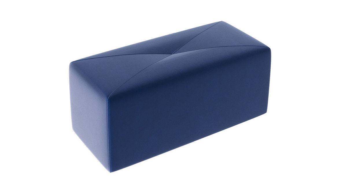 Пуфик ТриЯ Тип 7 (Велюр Синий) - фото 2