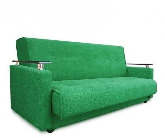 Диван Луховицкая мебельная фабрика Милан Люкс (Астра зеленый) 120x190 - фото 1