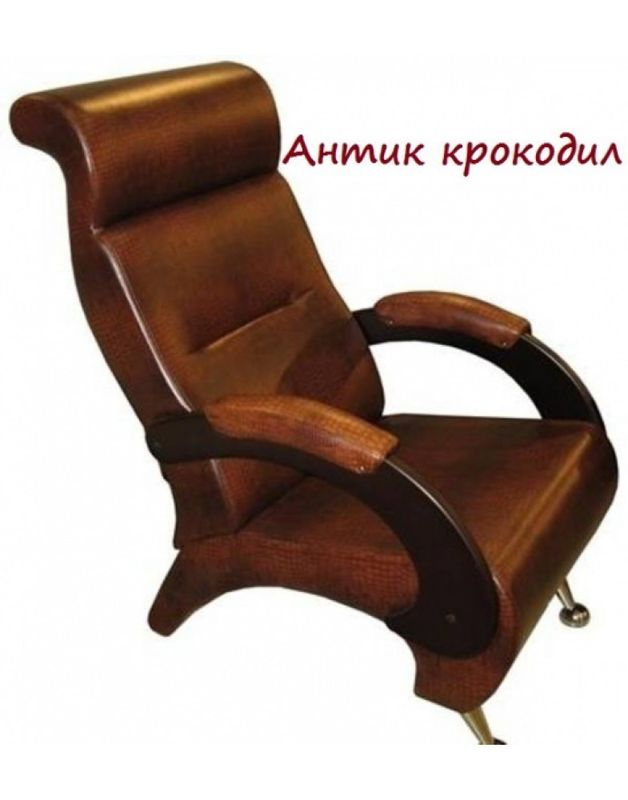 Кресло Impex Модель 9-Д экокожа (Антик-крокодил) - фото 1