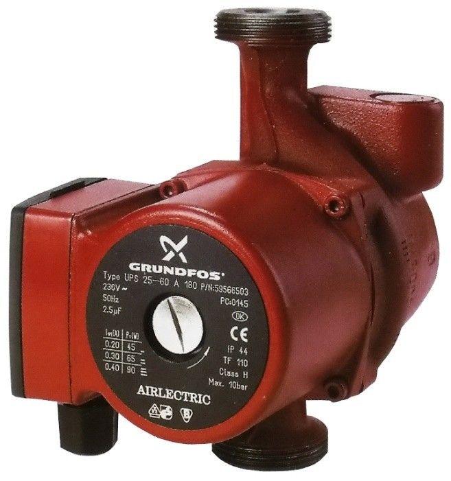 Насос для воды Grundfos UPS 25-60 A 180 - фото 1