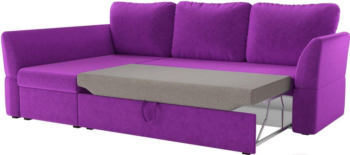 Диван Mebelico Гесен 100 левый 60062 микровельвет фиолетовый - фото 3