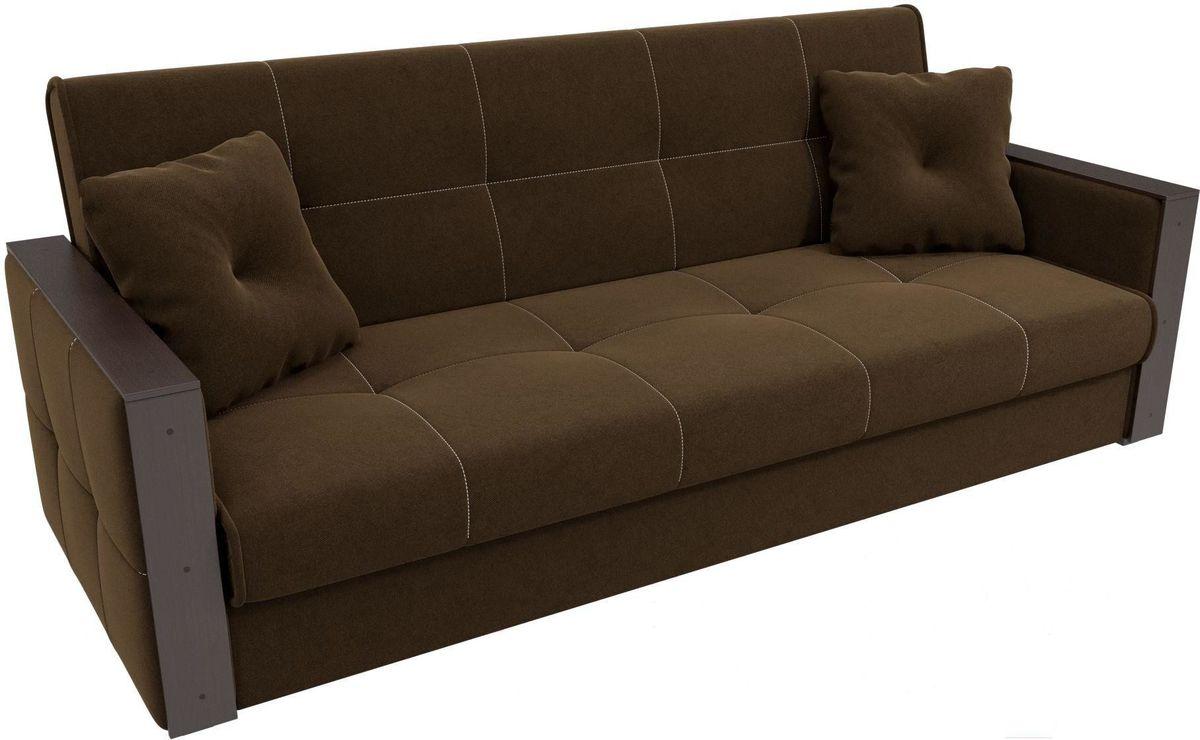 Диван Mebelico Валенсия 100605 микровельвет коричневый - фото 2