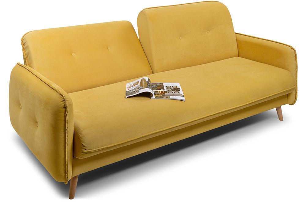 Диван Woodcraft Стаус Velvet Yellow - фото 2