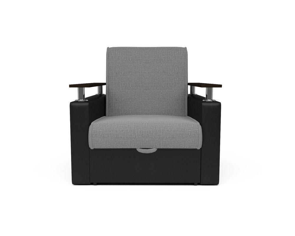 Кресло Мебель-АРС Шарм - Grey (рогожка + экокожа) - фото 2