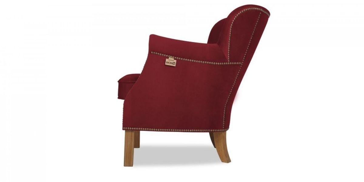 Кресло WOWIN Голден (Бордовый велюр) - фото 3