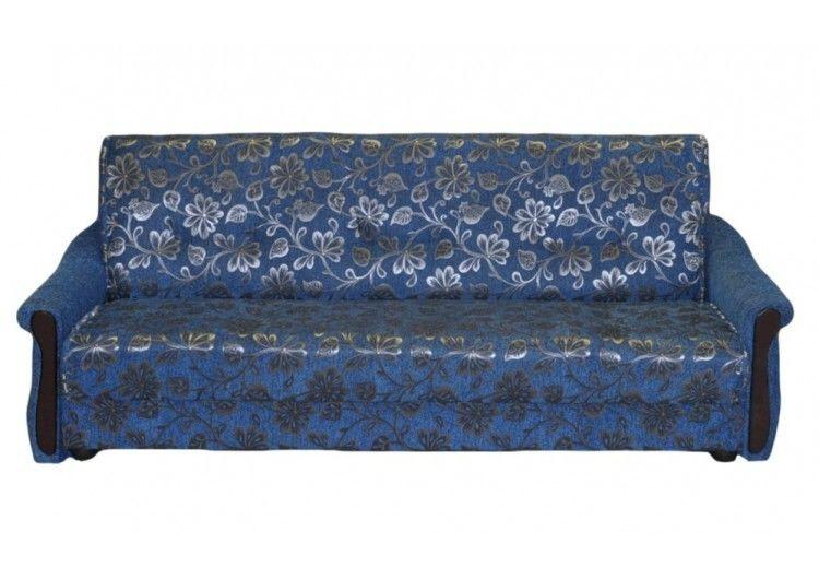 Диван Луховицкая мебельная фабрика Уют синий (140x190) пружинный - фото 1