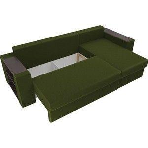 Диван ЛигаДиванов Эридан угол правый микровельвет зеленый - фото 5