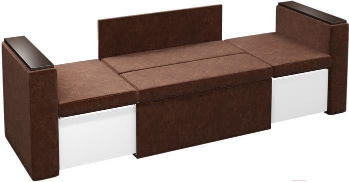 Диван Mebelico Арси 2 микровельвет коричневый - фото 2