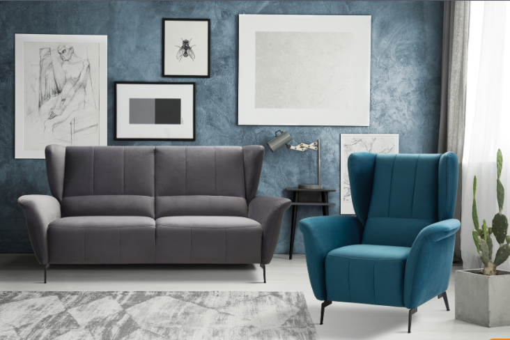 Набор мягкой мебели Gala Collezione Beo (кожа/ткань) - фото 1