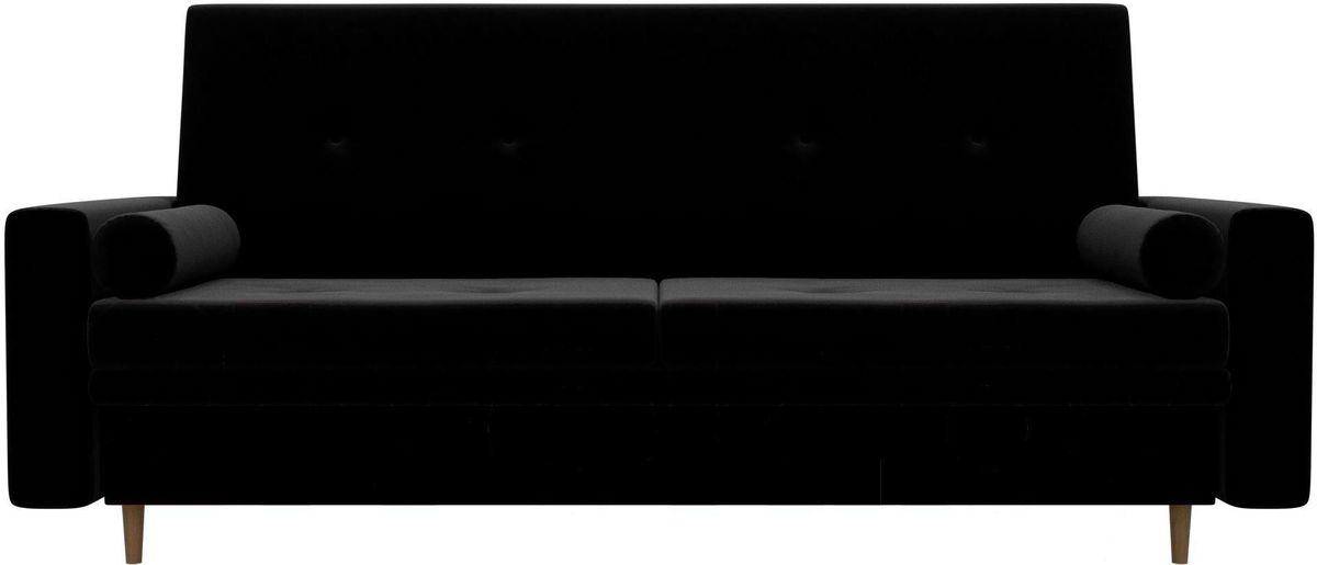 Диван Mebelico Белфаст 100594 микровельвет черный - фото 1