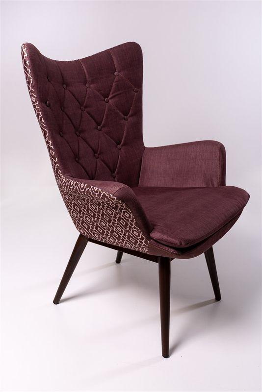 Кресло ФорестДекоГрупп Афакан (бордовый с узором) AFAKAN-BU - фото 2