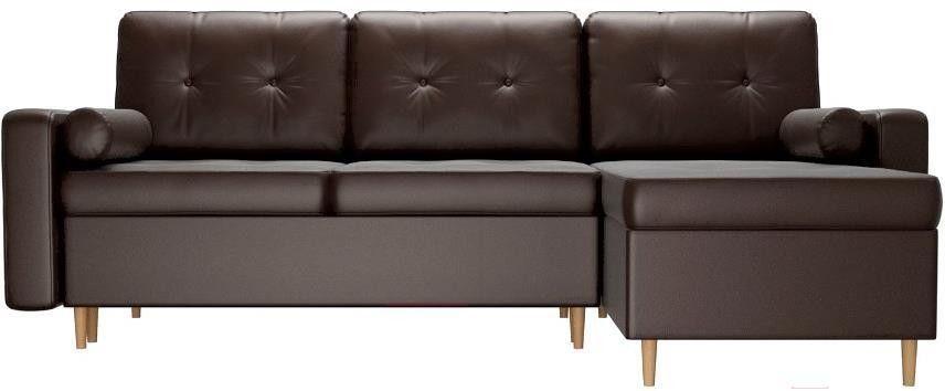 Диван Mebelico Белфаст 492 правый 59062 экокожа коричневый - фото 5