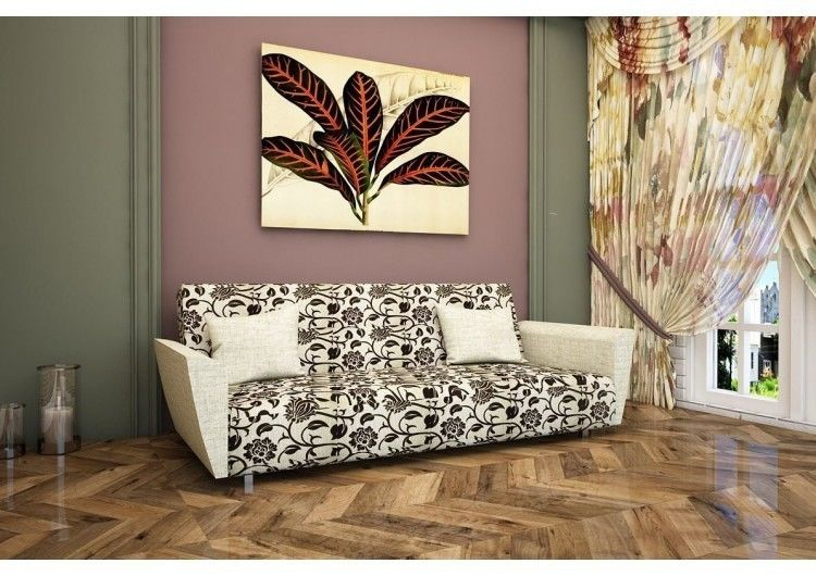 Диван Раевская мебельная фабрика Рогожка розы 00438 - фото 1