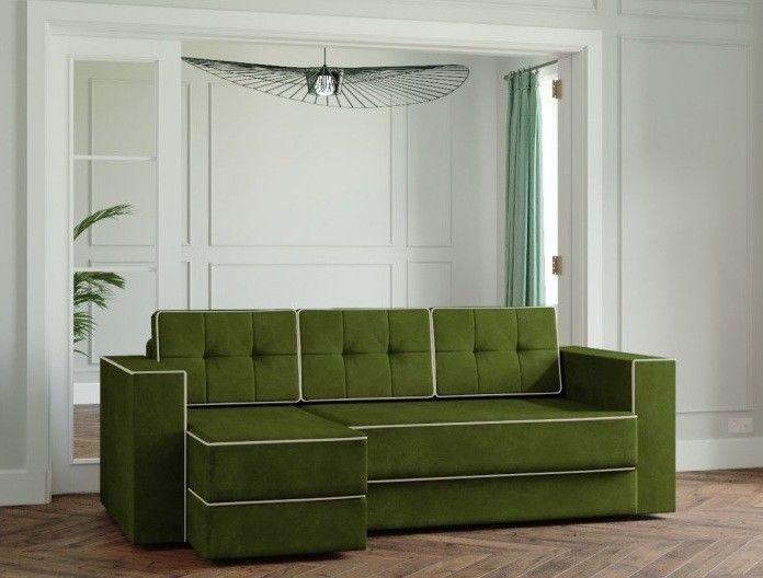 Диван Настоящая мебель Ванкувер Модерн (модель: 00-00000031) зелёный - фото 1