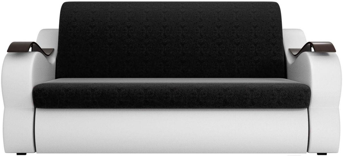 Диван Mebelico Меркурий 222 160, вельвет черный/экокожа белый - фото 3
