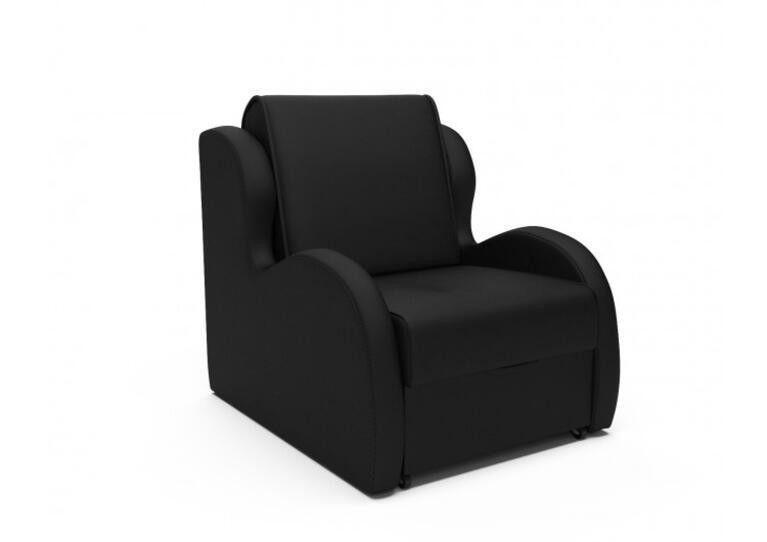 Кресло Craftmebel Атлант - черный кожзам - фото 1