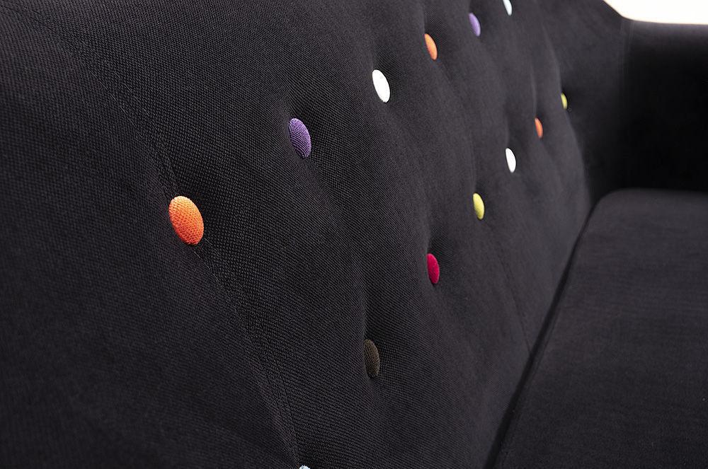 Диван Woodcraft Роттердам Velvet Black 2-местный - фото 6