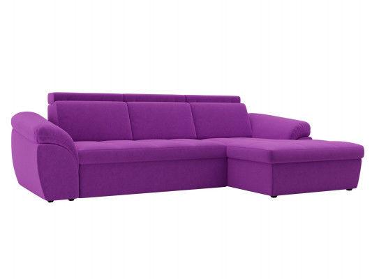 Диван ЛигаДиванов Мисандра угол правый микровельвет фиолетовый - фото 1