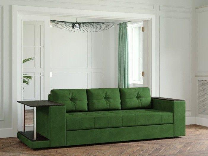 Диван Настоящая мебель Ванкувер Лайт со столом (зелёный) - фото 1