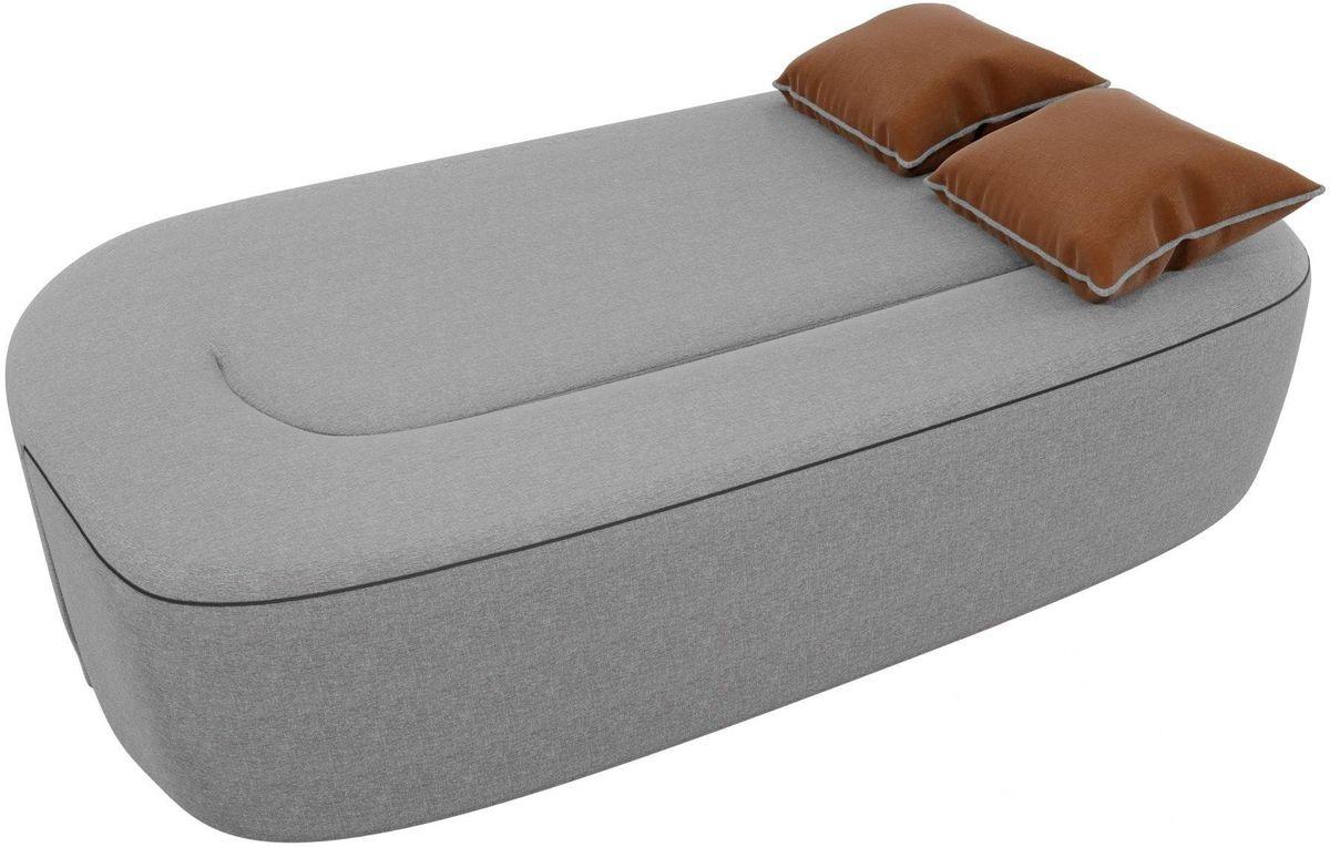 Диван Mebelico Томас 100399 рогожка серый/подушки коричневые - фото 2