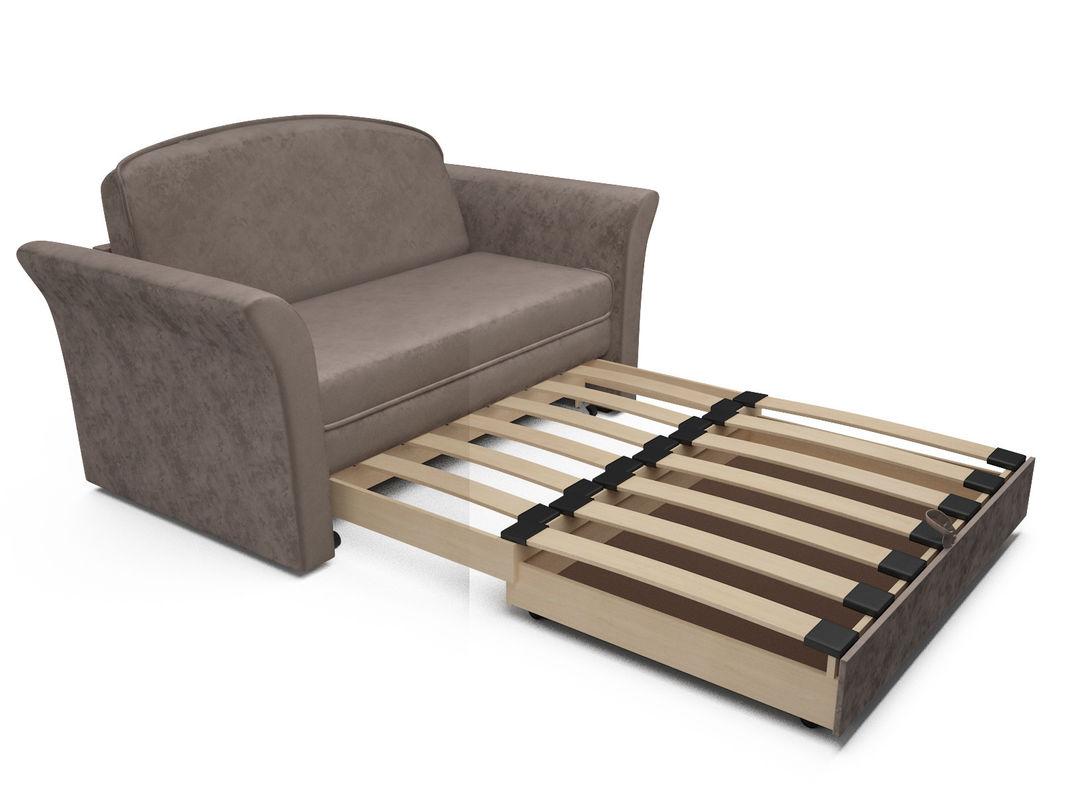Диван Мебель-АРС Малютка №2 (бархат серо-шоколадный STAR VELVET 60 COFFEE) - фото 7