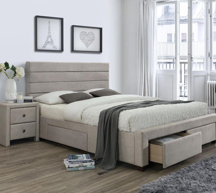 Кровать Halmar Kayleon 160x200 (бежевый) - фото 1