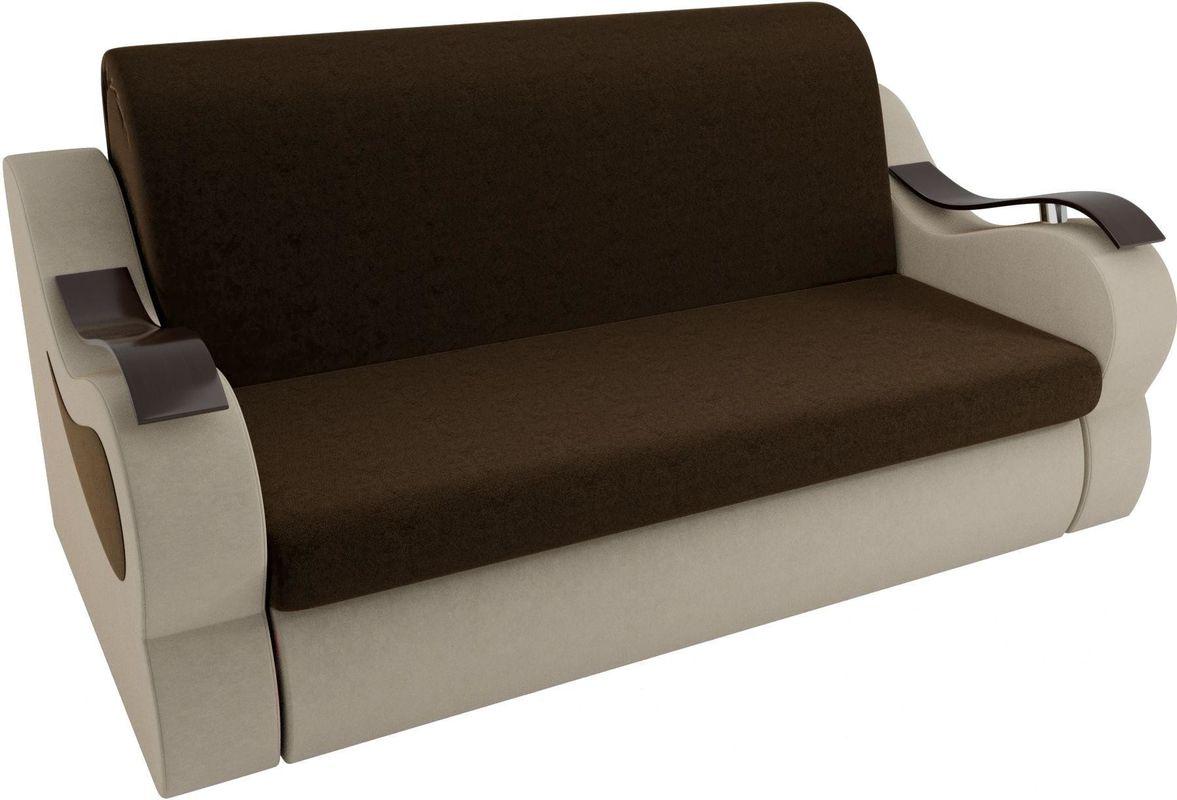 Диван Mebelico Меркурий 222 140, вельвет коричневый/бежевый - фото 2