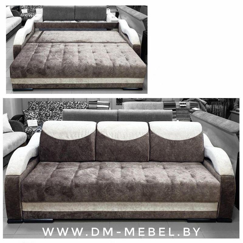 Диван DM-мебель Мадрид 3 трехместный (коричневый) - фото 1