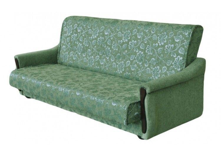 Диван Луховицкая мебельная фабрика Уют зеленый (140x190) пружинный - фото 1