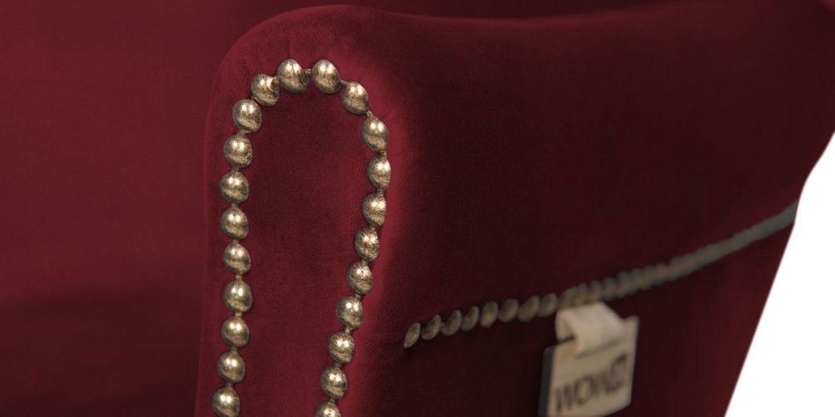 Кресло WOWIN Голден (Бордовый велюр) - фото 6