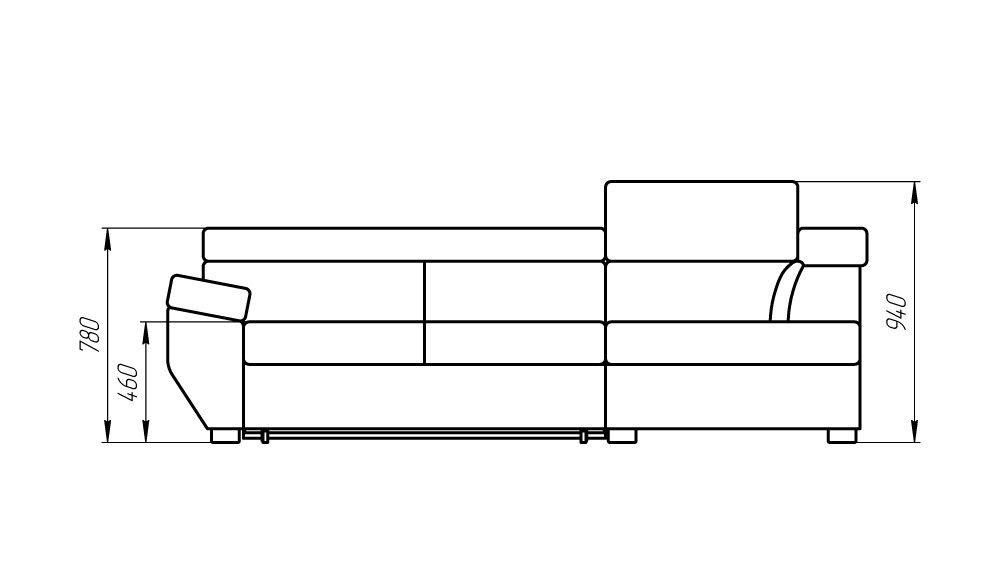 Диван LAMA мебель Сидней (угловой) - фото 5