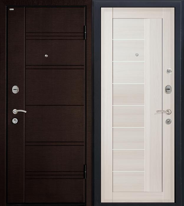Входная дверь МеталЮр М17 (эшвайт мелинга, матовое стекло) - фото 1
