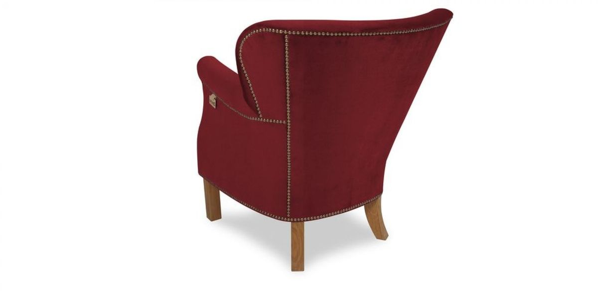 Кресло WOWIN Голден (Бордовый велюр) - фото 4