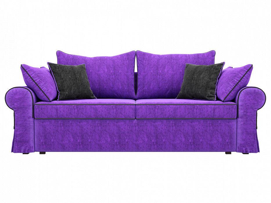 Диван Mebelico Элис прямой Велюр фиолетовый\черный - фото 4
