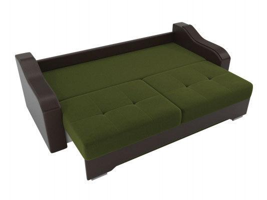 Диван ЛигаДиванов Браун 102171 микровельвет зеленый/экокожа коричневый - фото 5
