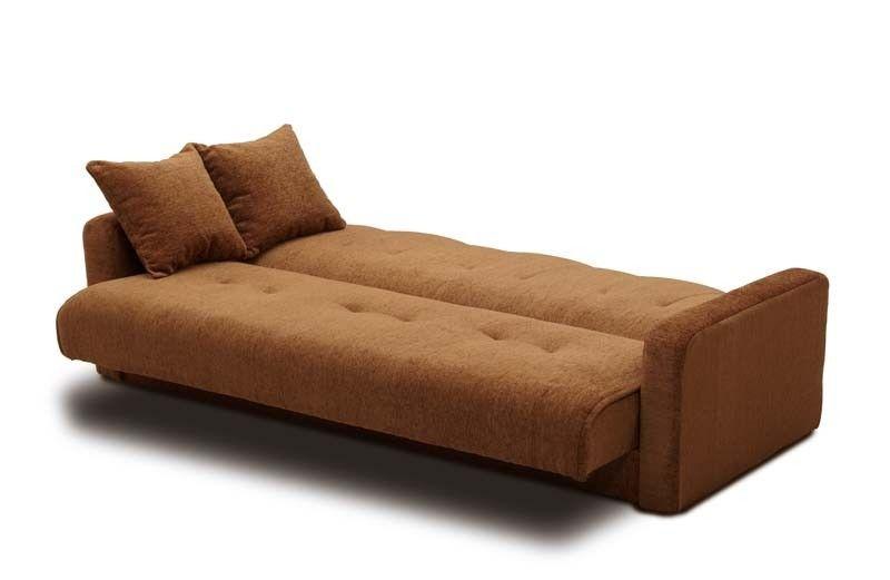 Диван Луховицкая мебельная фабрика Милан 120х190 шенилл тёмно-коричневый пружинный - фото 4