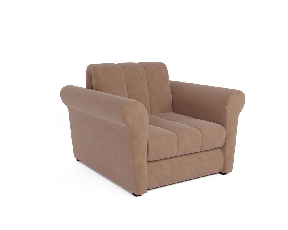 Кресло Мебель-АРС Гранд бежевый микровелюр (Luna 061) - фото 1