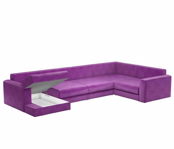 Диван Craftmebel Мэдисон П-образный фиолетовый вельвет - фото 3