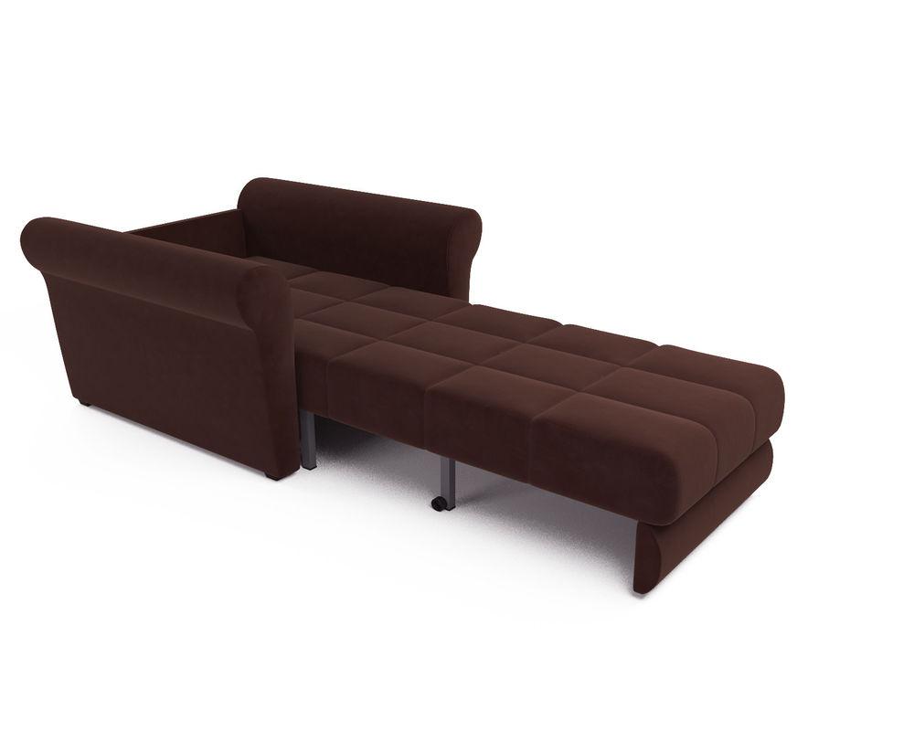 Кресло Мебель-АРС Гранд коричневый микровелюр (Luna 092) - фото 6