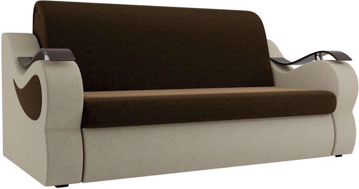 Диван Mebelico Меркурий 222 100,вельвет коричневый/бежевый - фото 1