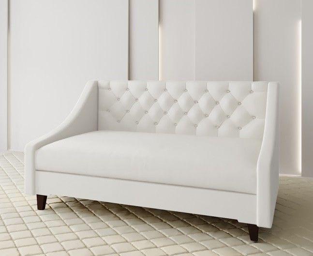 Диван Луховицкая мебельная фабрика Мальта 2 (рогожка белая) 145x80 - фото 1