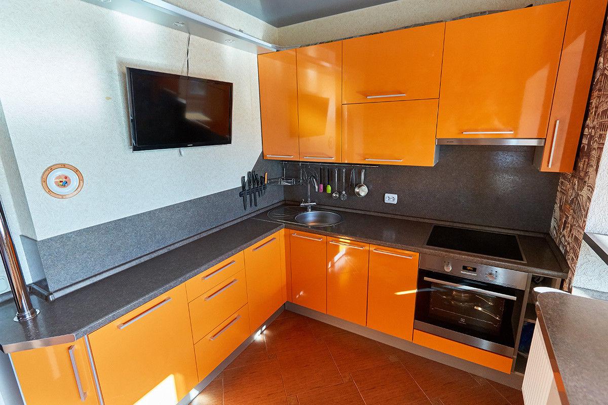 Кухня Шеф кухни из пластика Оранжевый апельсин - фото 1