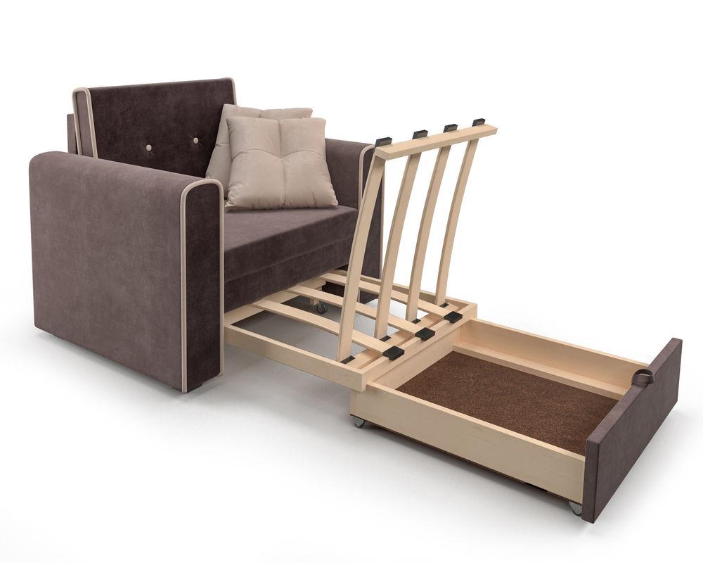Кресло Мебель-АРС Санта (кордрой коричневый) - фото 7