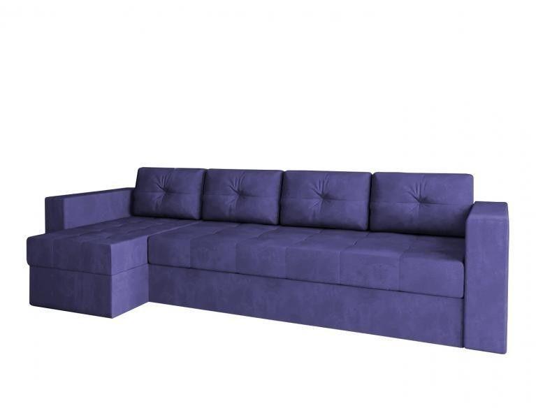Диван Craftmebel Угловой Константин макси фиолетовый вельвет - фото 1