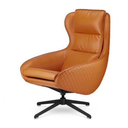 Кресло Альта Мебель Прайм оранжевый (искусственная кожа) - фото 1