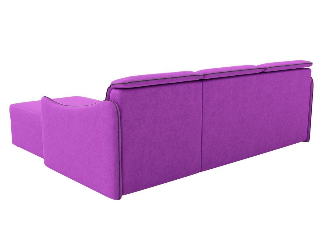Диван ЛигаДиванов Скарлетт 125 угловой правый 60677 вельвет фиолетовый - фото 4