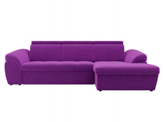 Диван ЛигаДиванов Мисандра угол правый микровельвет фиолетовый - фото 3
