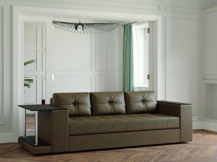 Диван Настоящая мебель Ванкувер Лайт со столом (модель 00-00003456) коричневый - фото 1